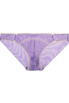 HEIDI KLUM INTIMATES Mon Coeur low-rise lace and tulle briefs