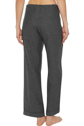BODAS Montana brushed-cotton pajama pants
