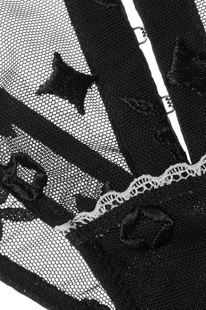 LE FLEUR DU MAL + Playboy embroidered tulle briefs