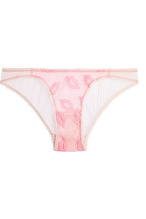 MIMI HOLLIDAY by DAMARIS Embroidered tulle briefs