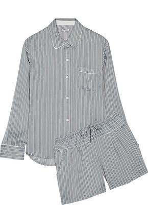 DKNY Striped satin pajama set