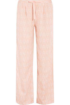 HEIDI KLUM INTIMATES Printed voile pajama pants