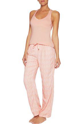 HEIDI KLUM INTIMATES Printed jersey-knit pajama pants