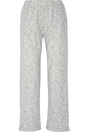 SKIN Cotton-blend mouliné pajama pants