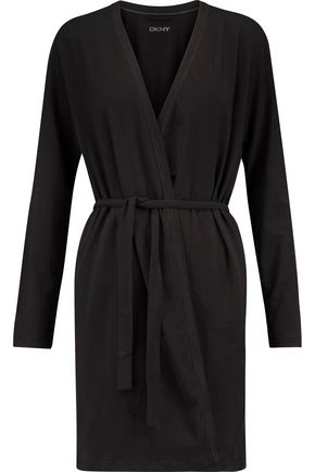 DKNY Stretch-cotton jersey robe