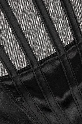 LA PERLA Mid-rise mesh and stretch-silk briefs