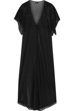 LA PERLA Ninfea embroidered metallic modal-blend robe