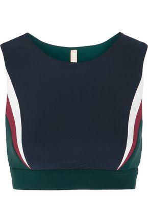 NO KA 'OI Lani paneled stretch-jersey sports bra