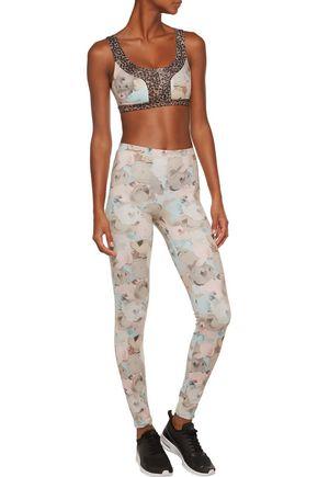 LIVE THE PROCESS Floral-print stretch-Supplex® bra top
