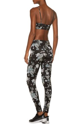 LIVE THE PROCESS Floral-print stretch-Supplex® bra top