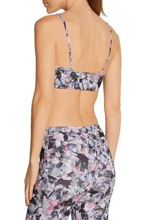 LIVE THE PROCESS Printed stretch-Supplex® sports bra