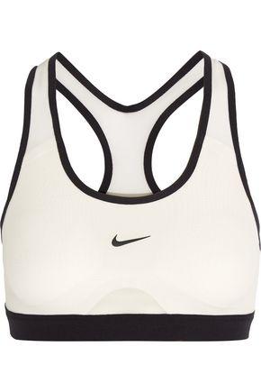 NIKE Pro Dri-FIT mesh and stretch-jersey sports bra