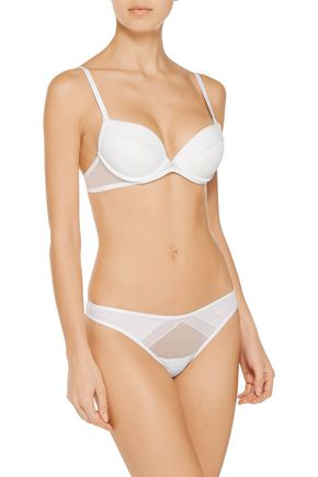 LA PERLA Daily Design low-rise stretch-tulle thong