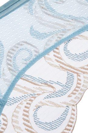 LA PERLA Clio low-rise lace and tulle briefs