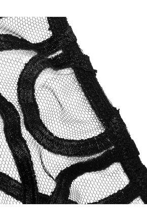 LA PERLA Circles mid-rise tulle-paneled organza briefs