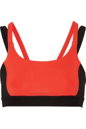 PURITY ACTIVE Paneled printed stretch sports bra