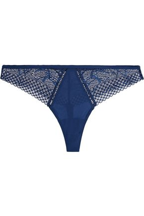 LA PERLA Myrta low-rise lace-trimmed stretch-jersey thong