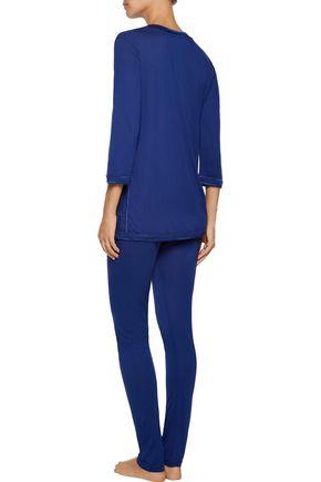LA PERLA Myrta satin-trimmed modal-blend pajama pants