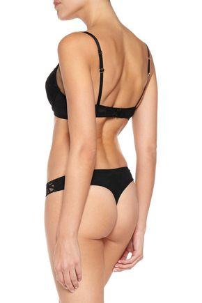 LA PERLA Circles embroidered stretch-tulle push-up bra
