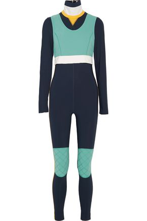 NO KA 'OI Kimo color-block layered stretch jumpsuit