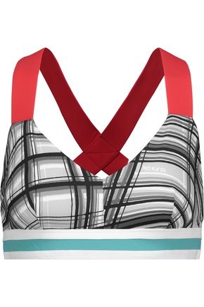 NO KA 'OI Ola printed stretch sports bra