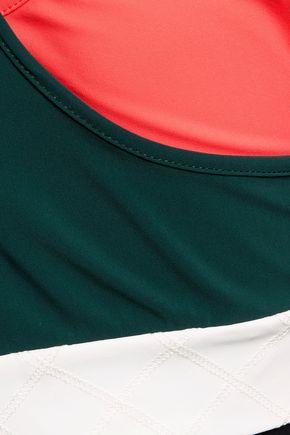 NO KA 'OI Lani layered stretch-jersey sports bra