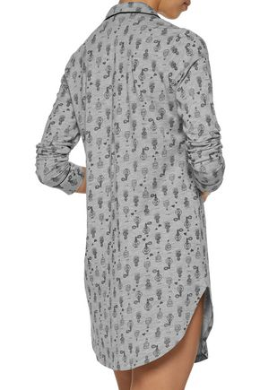 COSABELLA Bella printed Pima cotton and modal-blend nightshirt