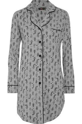 COSABELLA Bella printed cotton and modal pajama shirt