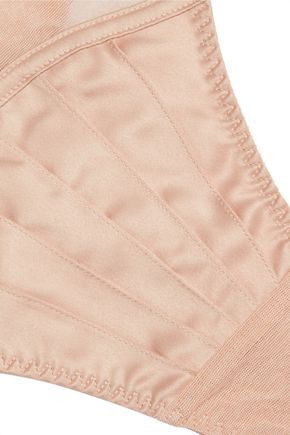 STELLA McCARTNEY Cherie Sneezing low-rise stretch-satin and tulle thong