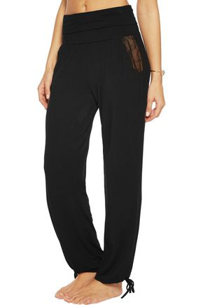 HEIDI KLUM INTIMATES Dolce Como lace-trimmed stretch-modal pajama pants
