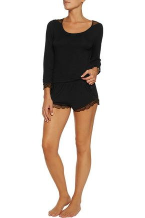 HEIDI KLUM INTIMATES Dolce Como lace-trimmed stretch-modal top