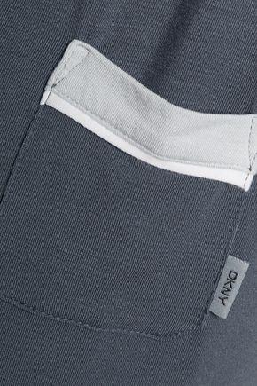DKNY Polka-dot stretch-modal pajama set