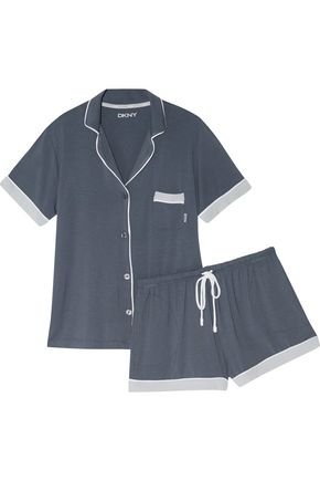 DKNY Stretch-modal jersey pajama set