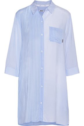 DKNY Striped voile nightdress