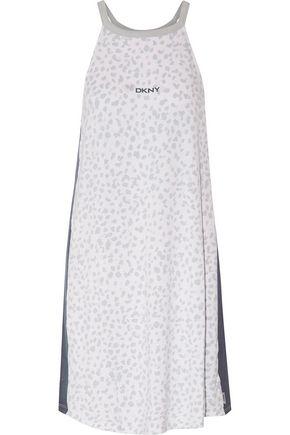 DKNY Printed stretch-modal jersey chemise
