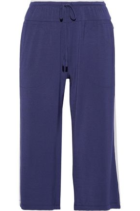 DKNY Striped stretch-modal jersey pajama pants