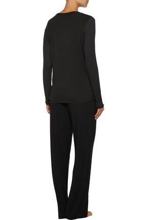 DKNY Stretch-modal pajama top