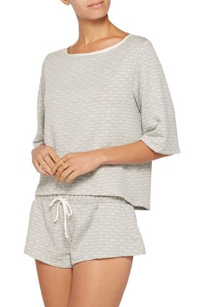 EBERJEY Flynn polka-dot stretch-jersey pajama shorts