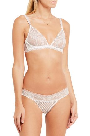 STELLA McCARTNEY Molly Inspiring lace and embroidered tulle underwired bra