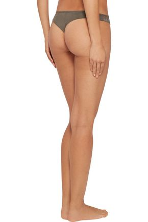 EBERJEY Francine low-rise paneled lace and mesh thong