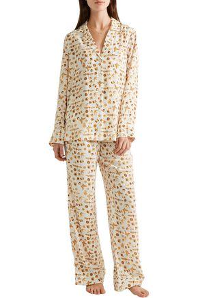 EQUIPMENT Avery printed washed-silk pajama set