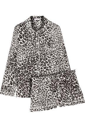 EQUIPMENT Lillian leopard-print silk pajama set
