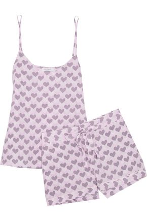 EQUIPMENT Printed washed-silk pajama set