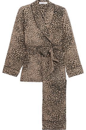 EQUIPMENT Odette leopard-print washed-silk pajama set