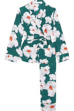ce612b4e7e EQUIPMENT Odette floral-print washed-silk pajamas ...