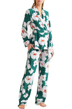 e1a482279b ... EQUIPMENT Odette floral-print washed-silk pajamas ...