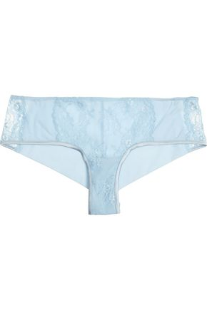 LA PERLA Airy Blooms Leavers lace and stretch-jersey briefs