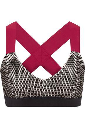NO KA 'OI Ola stretch-knit and stretch-jersey sports bra