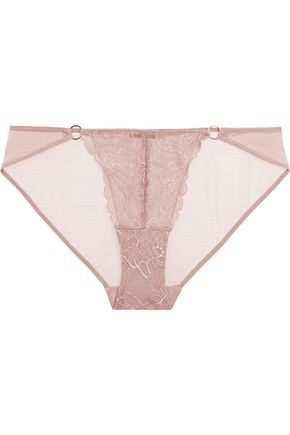 ELLE MACPHERSON BODY Blaze Leavers lace and mesh briefs