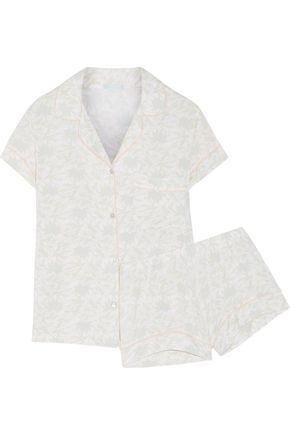 EBERJEY Palmitas printed stretch-modal jersey pajama set
